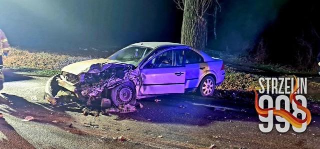 Wypadek w Ośnie 11.12.2020