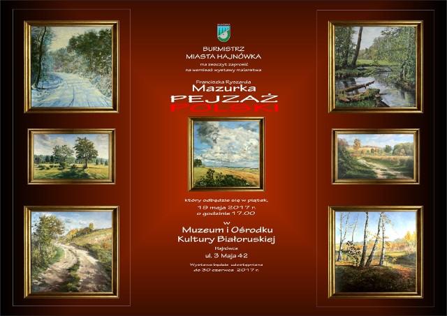 Franciszek Ryszard Mazurek pokaże swoje prace w Muzeum i Ośrodku Kultury Białoruskiej w Hajnówce