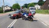 Wypadek w Czekarzwicach Drugich. Motocyklista trafił do szpitala