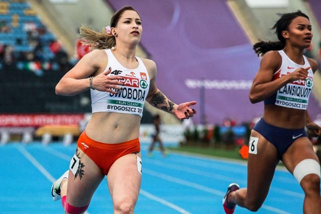 Ewa Swoboda może się też pochwalić dwoma tytułami młodzieżowej mistrzyni Europy w biegu na 100 m