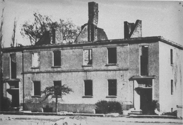 Zniszczone Olesno w 1945 roku