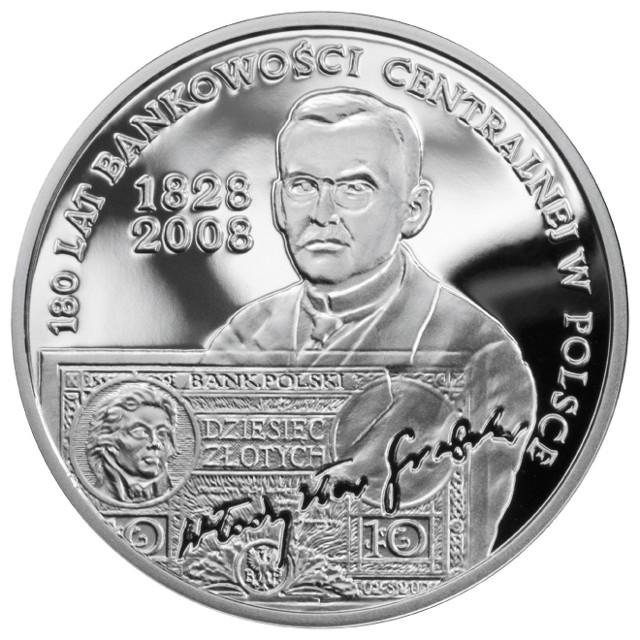 Rewers srebrnej 10-złotówki