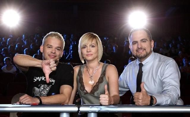 """Michał Piróg (z lewej), Weronika Marczuk-Pazura i Agustin Egurolla, jurorzy """"You Can Dance - Po prostu tańcz""""."""