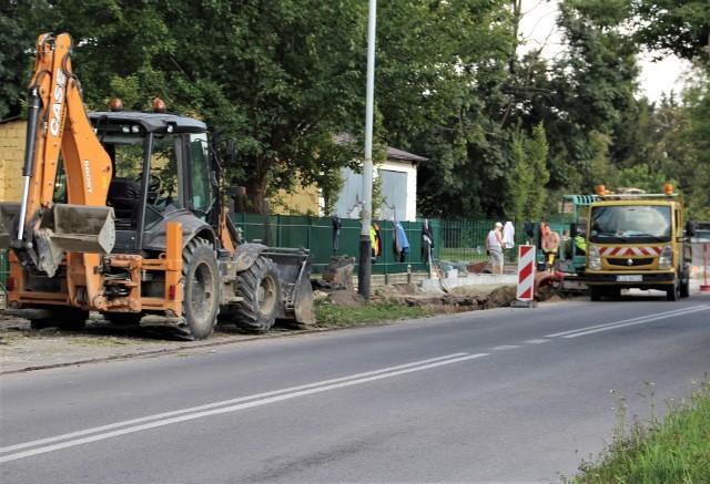 Prace przy ulicy Żdanowskiej w Zamościu trwają