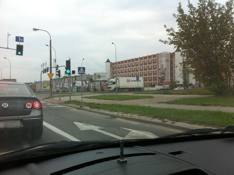 Korek na ulicy Żeromskiego