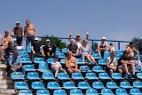 Kibice Błękitnych Stargard na ostatnim domowym meczu z Garbarnią. ZDJĘCIA