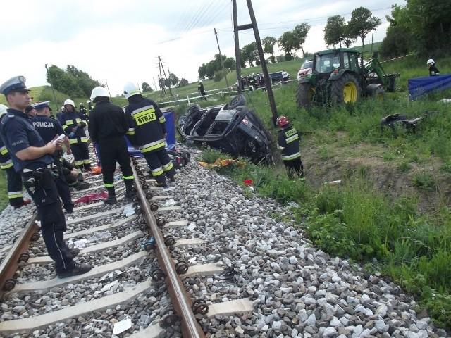 Chełmińscy policjanci pod nadzorem prokuratora badają przyczyny i okoliczności tragicznego w skutkach wypadku