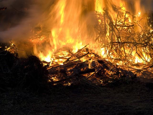 Do pożaru doszło w poniedziałek po południu.