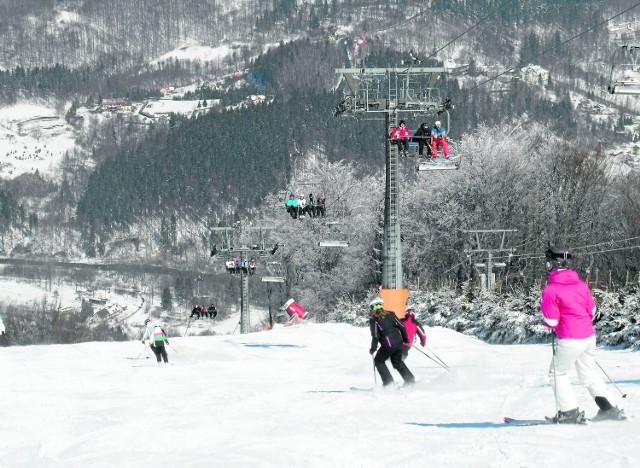 W Wiśle w miniony weekend narciarze pojawili się na Stożku