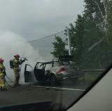 Pożar samochodu na S3 między Sulechowem, a Świebodzinem! Mamy zdjęcia od Czytelniczki