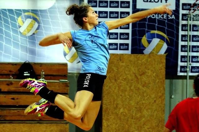 Siatkarki PSPS Chemika Police nie najlepiej zaprezentowały się w trakcie turnieju. Na zdjęciu Agata Oleksy.