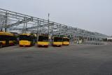 Autobusy elektryczne przyjadą za rok, wiata w zajezdni przy ul. Limanowskiego będzie gotowa latem