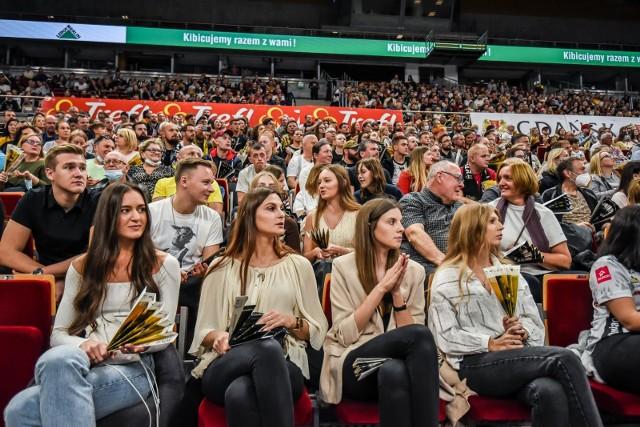 Kibice w hali Ergo Arena na meczu siatkówki Trefl Gdańsk - Aluron CMC Warta Zawiercie (10.10.2021)