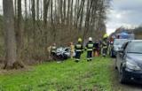 Wypadek na DK 60, w pobliżu Sewerynowa, pow. makowski. 24.04.2021
