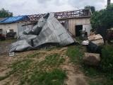 Burza nad wsią Stary Rzędków koło Skierniewic to był kataklizm. Wiatr łamał drzewa i zrywał dachy!