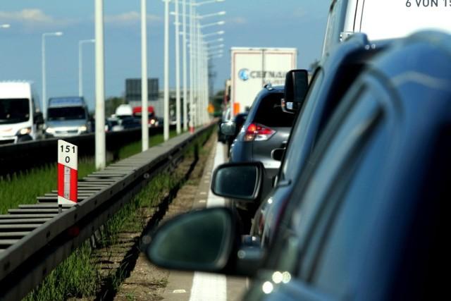 Korek na autostradzie A4 pod Wrocławiem. Zdjęcie ilustracyjne.
