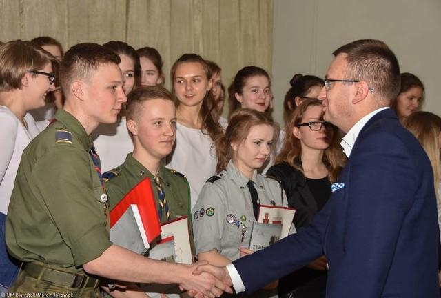 Nagrody Dobrego Polaka w III Liceum Ogólnokształcącym w Białymstoku (2016).