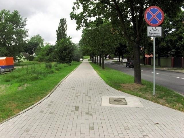 Ścieżka rowerowa na Leszczyńskiej gotowa