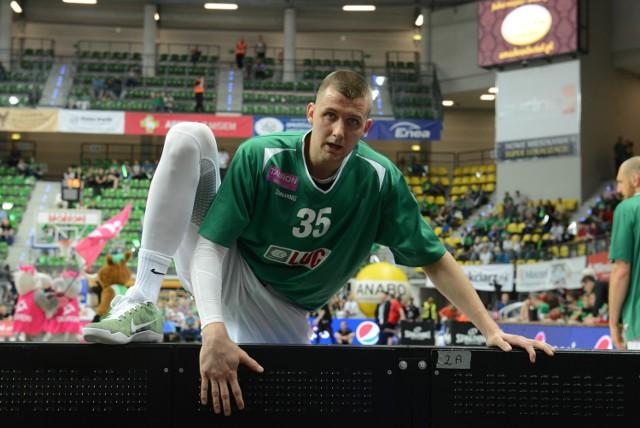 W środę (12 października) po raz pierwszy kibice zielonogórscy będą mogli obejrzeć Stelmet BC Zielona Góra w ligowym meczu z Siarką Tarnobrzeg. Na zdjęciu Przemysław Zamojski.