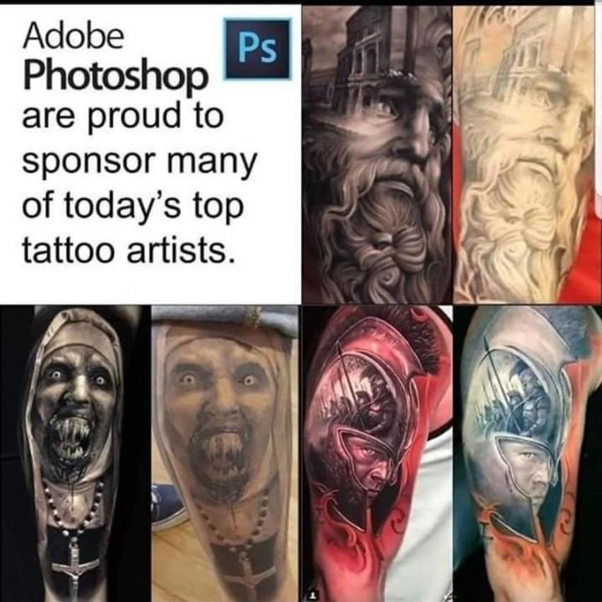 Te Tatuaże To Praca Photoshopa Zobacz Jak Tatuażyści