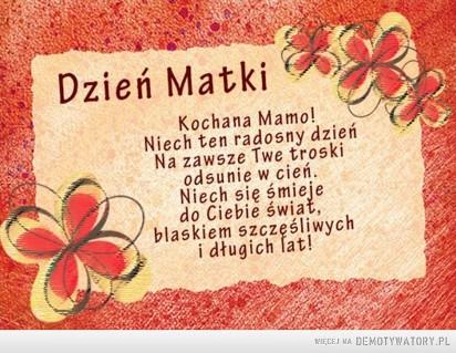 Dzień Matki 2018 życzenia Na Dzień Mamy 26052018 Najpiękniejsze