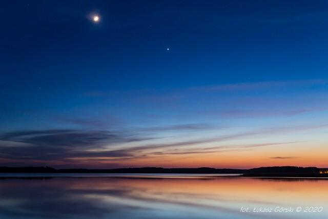 Pożegnanie Młodego Księżyca z Wenus – dzień po koniunkcji. 27.04.2020 r.