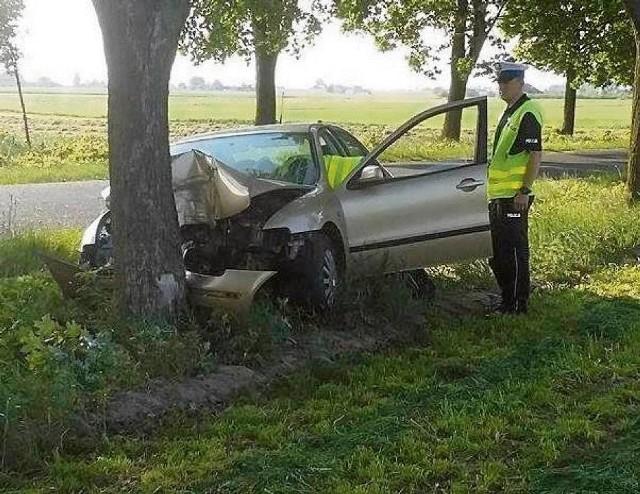Wypadek w miejscowości Osiek. Pijana 29-latka uderzyła w drzewo. Zdjęcie ilustracyjne