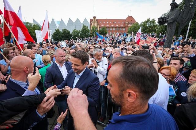 Rafał Trzaskowski w Szczecinie - 08.07.2020