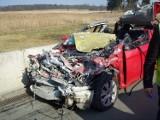 Nowy Tomyśl: Śmiertelny wypadek na A2 i blokada drogi [ZDJĘCIA]