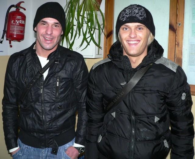 Paweł Wasilewski (z lewej) i Paulius Paknys chcą grać w Stali Stalowa Wola. W środę okaże się, czy zostaną w naszym zespole.