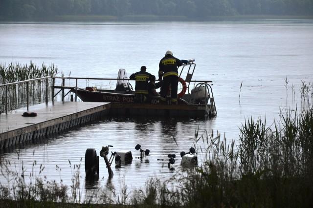 Akcja na jeziorze w Chotkowie.