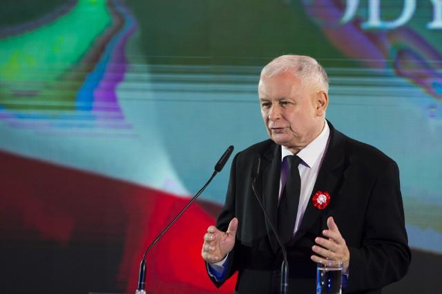 Jarosław Kaczyński na spotkaniu patriotycznym w Krakowie