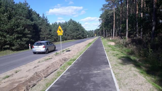 Gotowy fragment trasy rowerowej pomiędzy Lubiczem a Złotorią