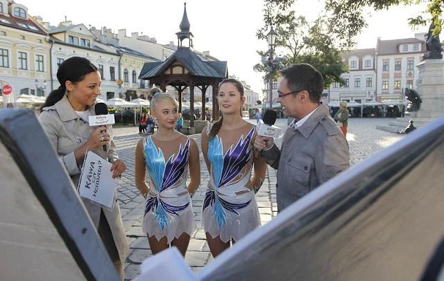 """Program """"Kawa czy herbata"""" już wielokrotnie był nadawany z rzeszowskiego Rynku."""
