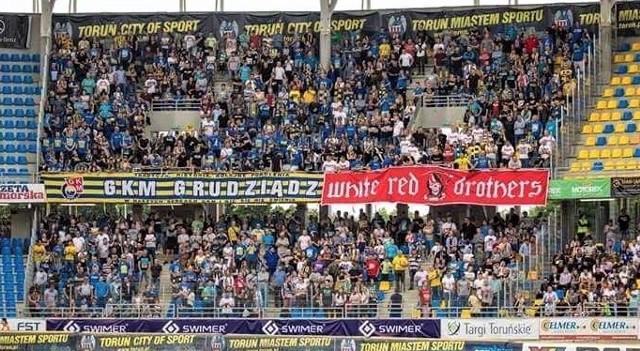 Na poprzednim derby w Toruniu było na trybunach gości około 1000 fanów MrGarden GKM Grudziądz