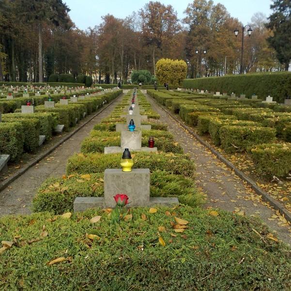 Młodzież zapaliła znicze na cmentarzu wojennym