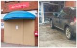 Kobieta w BMW wjechała w pocztę. Placówka ciągle zamknięta