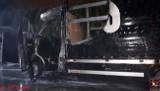 Dwa samochody paliły się w gminie Kruszwica [zdjęcia]