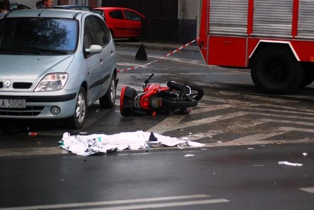 W wypadku w Wilkowyi ranny został motocyklista.