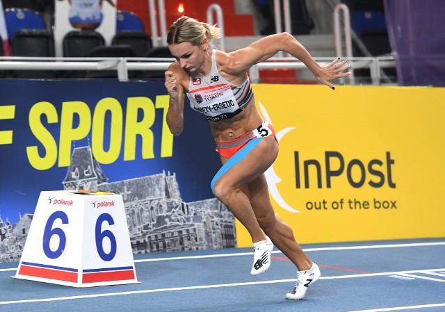 Justyna Święty-Ersetic (AZS AWF Katowice) jest faworytką biegu na 400 metrów
