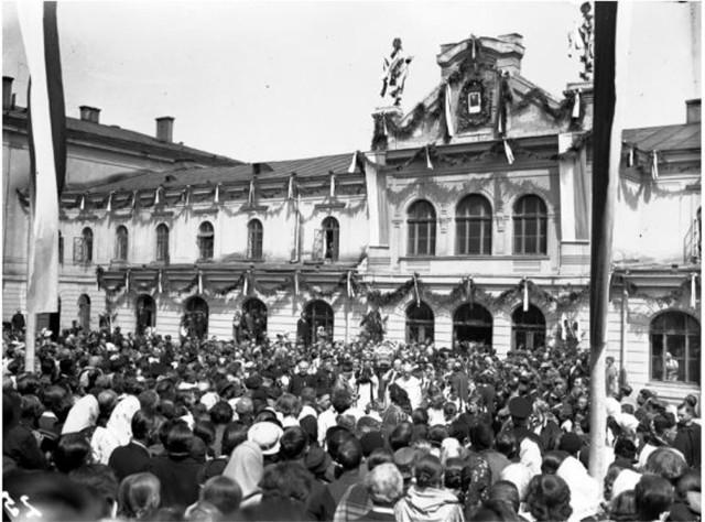 Czechowice, 1938 rok. Powitanie relikwii św. Andrzeja Boboli na ziemiach polskich