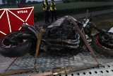 Śmiertelny wypadek w Gniewkowie. Zginął motocyklista, policja bada przyczyny