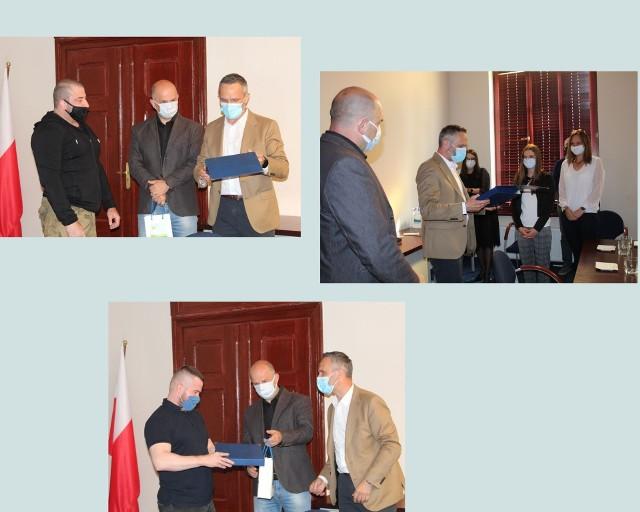 Sportowcy z Wąbrzeźna, którzy są aktualnie mistrzami w swojej dyscyplinie sportu otrzymali gratulacje od burmistrza Wąbrzeźna i jego zastępcy
