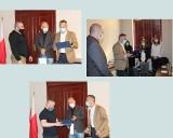 Wiktoria Świś, Mariusz Palcowski i Robert Kuć, najlepsi sportowcy z Wąbrzeźna otrzymali gratulacje od burmistrza Tomasza Zygnarowskiego