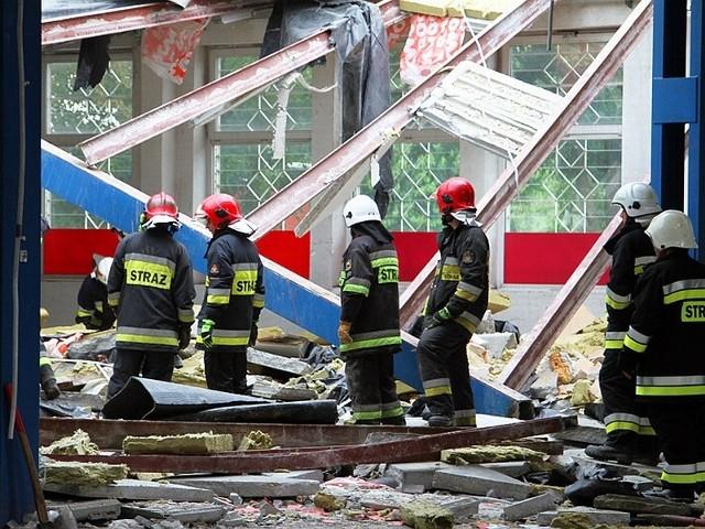 Zawalił się strop w budynku przy ul. Jana z Kolna