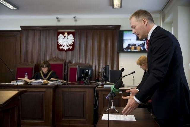 Jacek Żalek w sądzie