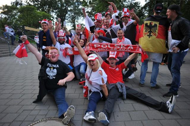 Mecz Polska - Niemcy Frankfurt. Polscy kibice