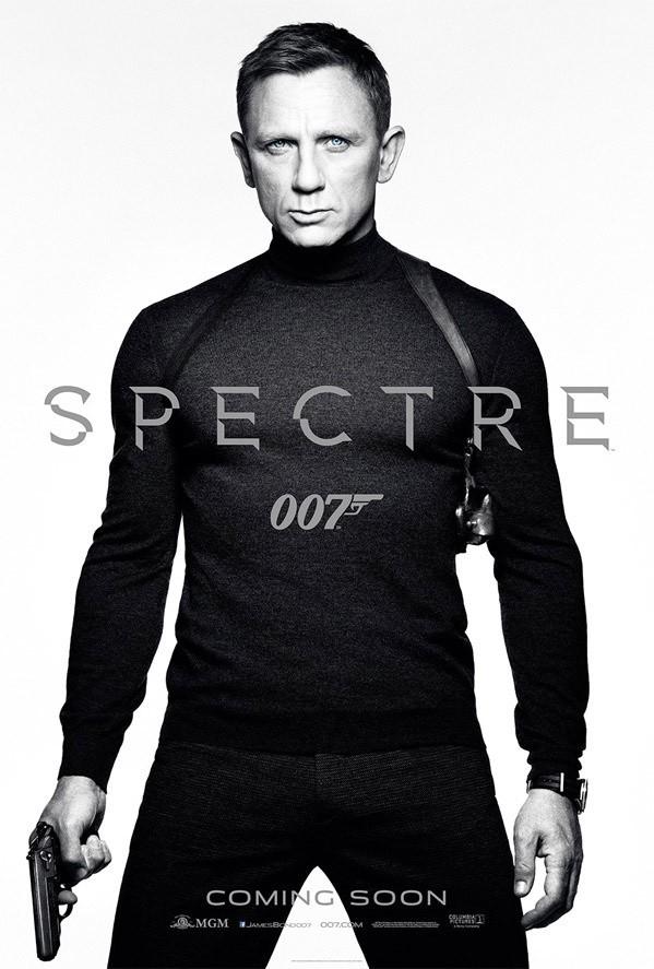 Plakaty Spectre czyli najnowszego Bonda robią wrażenie