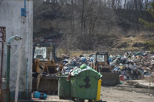 Składowisko odpadów w Żębocinie (marzec 2019 roku)