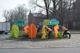 Pisanki i zające w rozmiarze XXL opanowały ulice, ronda w Sulechowie i w gminie